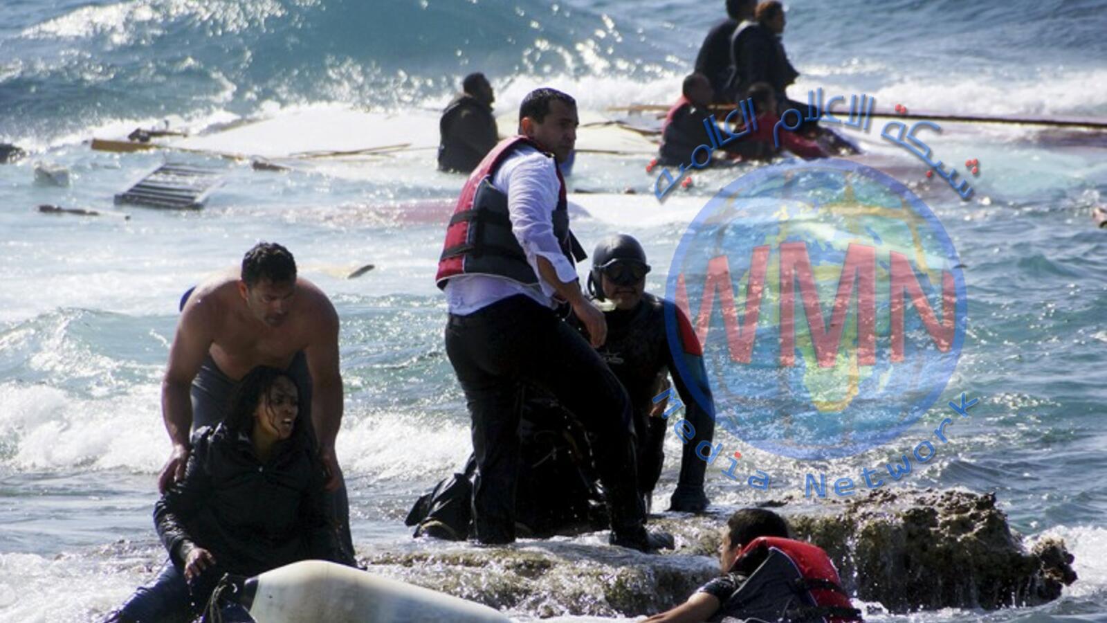 ارتفاع العدد النهائي لحادث غرق سفينة مهاجرين أمام تونس إلى 82