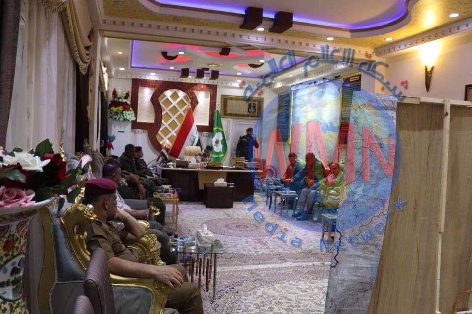 قيادات الحشد الشعبي في صلاح الدين تعقد اجتماع لمناقشة الملف الامني