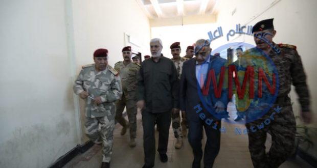 عادل عبد المهدي وابو مهدي المهندس و وزيرا الدفاع والداخلية يصلون للمقر المسيطر للإشراف على عمليات إرادة النصر الثانية شمالي بغداد