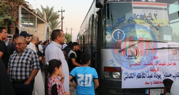مكتب الحشد في واسط يودع حجاج بيت الله الحرام من ذوي شهداء الحشد
