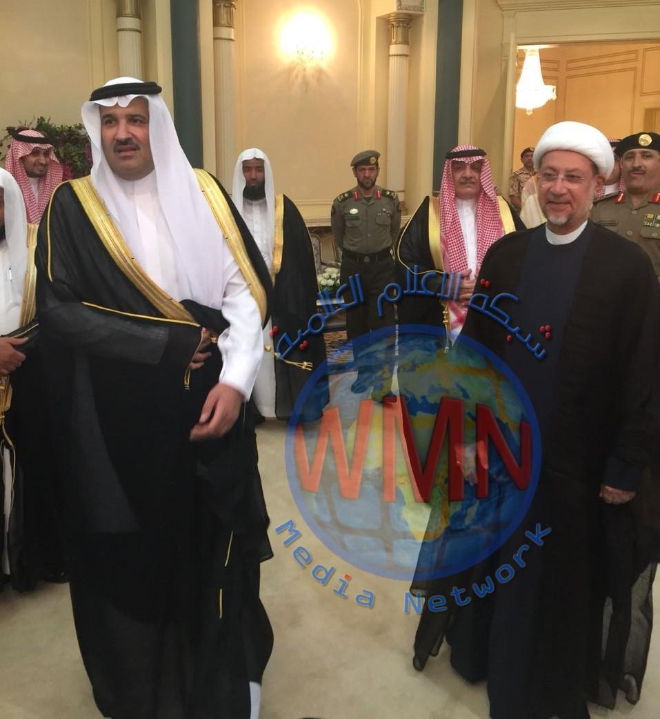 الشيخ العطية يلتقي أمير المدينة المنورة ويشيد بدوره في إبقاء منفذ عرعر مفتوحا أمام المعتمرين