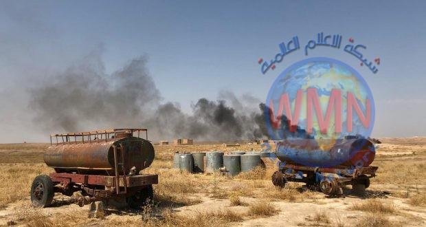الحشدالشعبي يفكك معملا للعبوات وسيارة مفخخة وأحزمة ناسفة في صحراء الجزيرة
