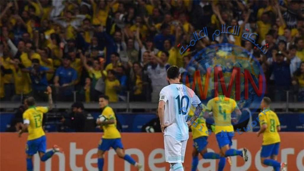 البرازيل تطيح بالارجنتين وتتأهل الى نهائي كوبا أميركا