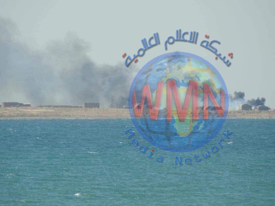 عمليات سامراء للحشد تدمر ثلاث مضافات لداعش بعملية أمنية في الجزيرة