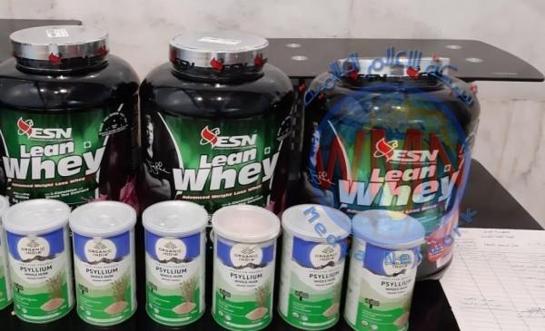 الجمارك: ضبط كمية من المكملات الغذائية مخالفة للضوابط في مطار النجف