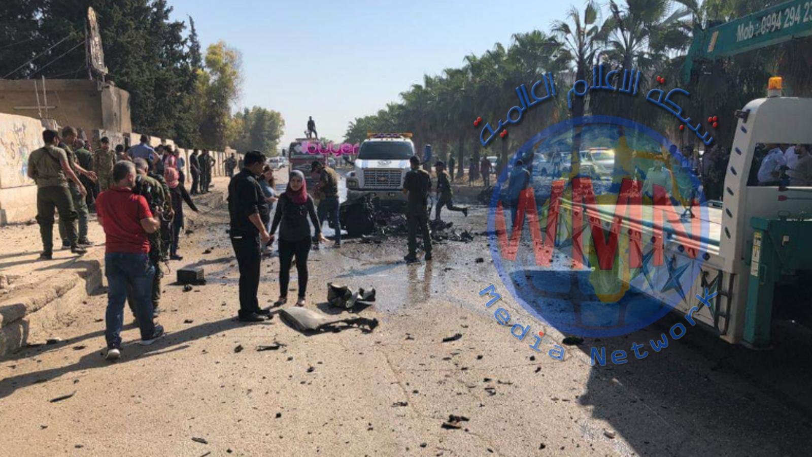 """تفجير انتحاري بسيارة مفخخة في """"القامشلي"""" السورية"""