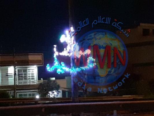 بالصور.. تزيين وإنارة عدد من شوارع وساحات بغداد استعداداً للعيد