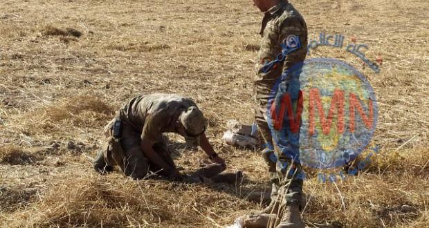 مفرزة مكافحة المتفجرات في اللواء 30 بالحشد تفكك عبوتين ناسفتين جنوب الموصل