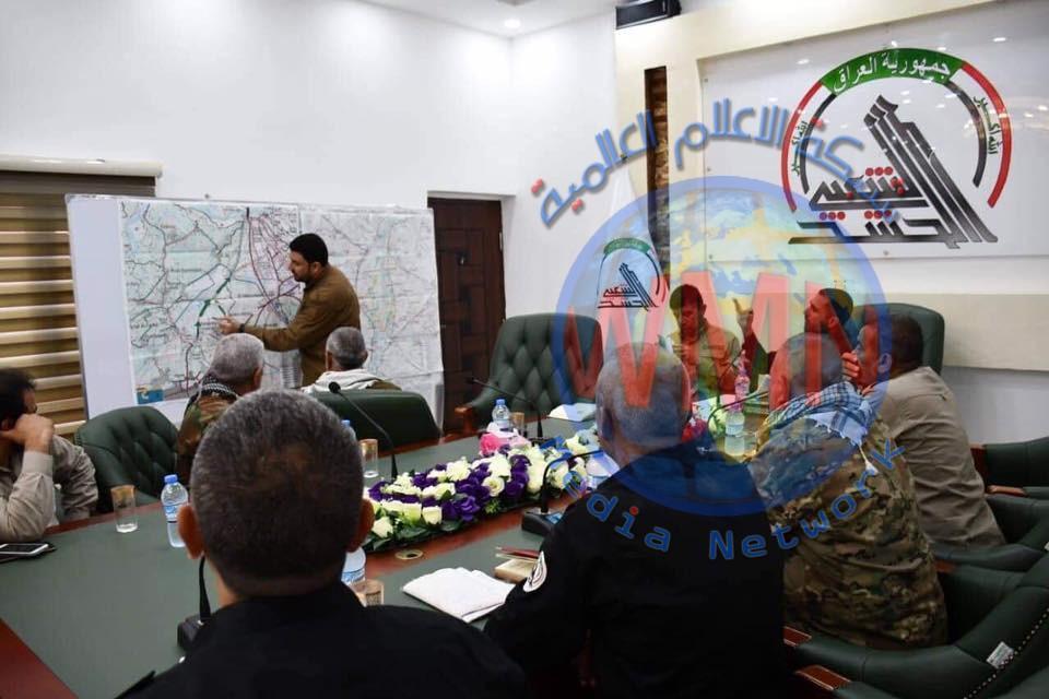 قيادة عمليات الحشد في ديالى تعقد اجتماعا امنيا وتؤكد على تكثيف الجهد الاستخباري