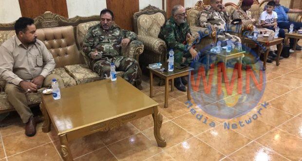 قائد عمليات صلاح الدين يزور مقر اللواء السادس للحشد الشعبي للتهنئة بعيد الاضحى