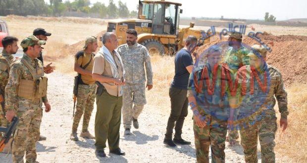 اللواء 28 بالحشد يقوي السواتر لتأمين خط الصد المباشر مع الدواعش في خانقين
