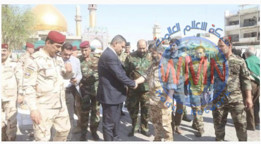 خلال زيارتهم عمليات الحشد في سامراء.. وزير الدفاع والوفد المرافق له يشيدون بالجهود الامنية