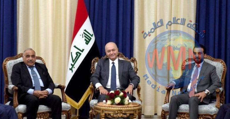 الرئاسات الثلاثة : سيادة العراق وسلامة ابنائه خط أحمر