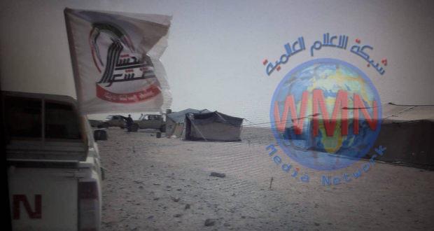 """اللواء 19 بالحشد الشعبي يدمر مضافة لـ""""داعش"""" جنوب غرب عكاشات"""