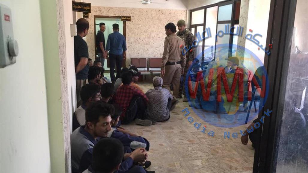 القبض على اكثر من ٣٠ أجنبيا مخالف لقانون الاقامة في العراق