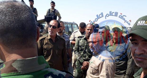 قائد عمليات شرق دجلة يزور مقر اللواء التاسع للحشد الشعبي ويوجه بالقضاء على فلول داعش