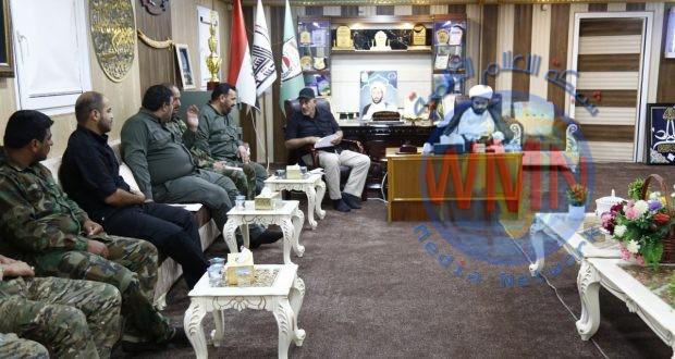 آمر اللواء الثاني في الحشد يوجه قادة اللواء بضرورة التنظيم في كافة مفاصل العمل