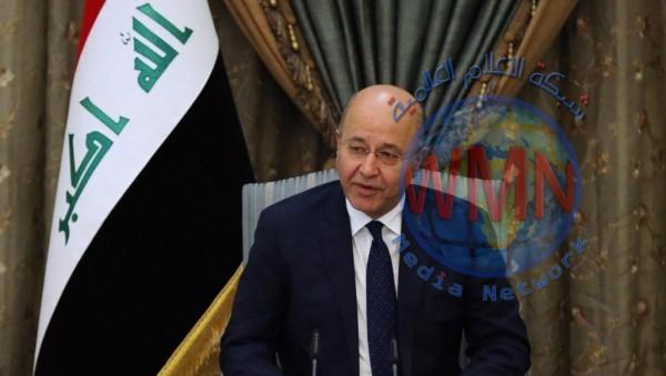 صالح يدعو البرلمان الى الإسراع بالمصادقة على مشروع قانون الناجيات الايزيديات
