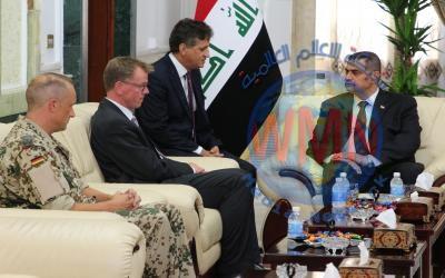 العراق وألمانيا يبحثان التعاون العسكري