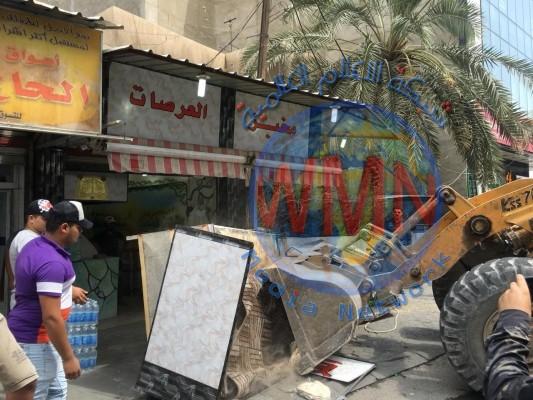 حملة لازالة التجاوزات في شارع الناظمية وبغداد الجديدة