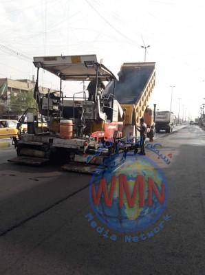 امانة بغداد: نسبة انجاز اكساء شارع الفلاح 85%