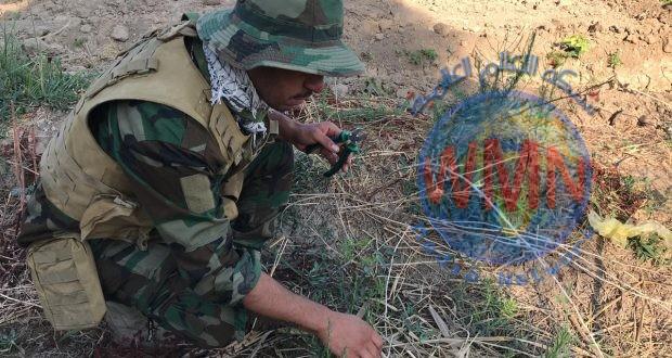 مكافحة المتفجرات للحشد ترفع 300 عبوة ناسفة في إحدى قرى الموصل
