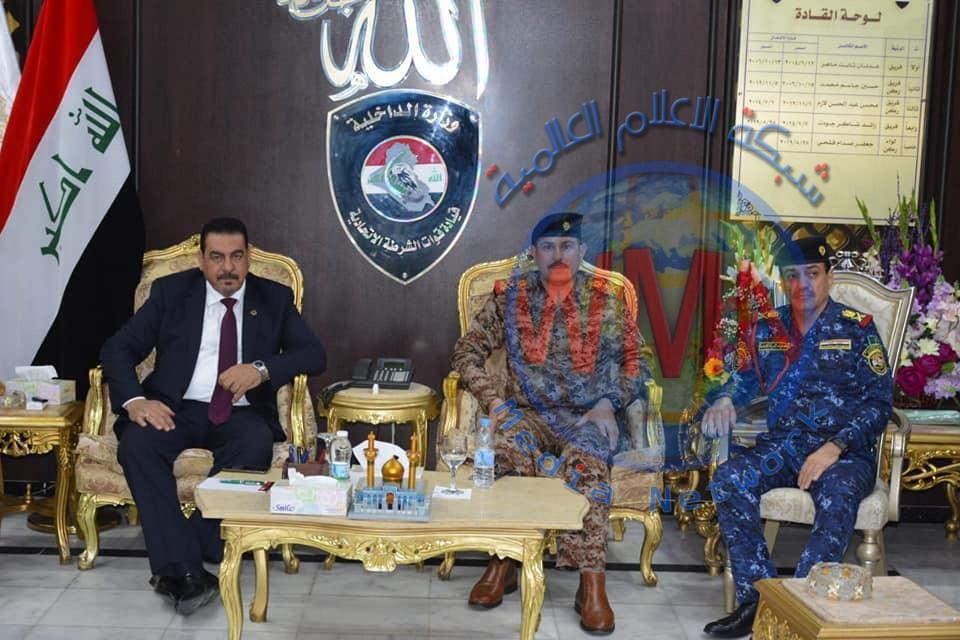 قائد الشرطة الاتحادية يستقبل السكرتير الشخصي لرئيس الوزراء ورئيس لجنة الامن والدفاع