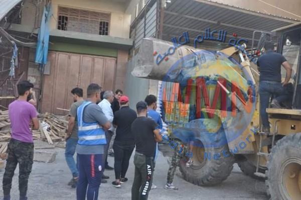 حملة لازالة التجاوزات في شارع مهم بمنطقة جميلة