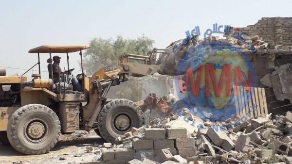 ازالة عدد من الدور المتجاوزة شمال بغداد