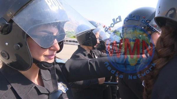 بالصور.. قوة نسائية لحماية النشاطات المدنية في العراق