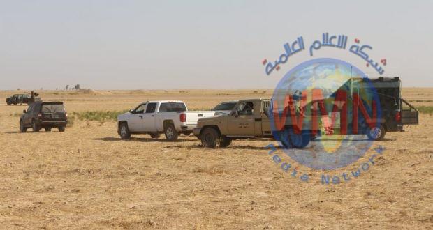 اللواء السادس في الحشد يشارك بعملية تفتيش مناطق جزيرة غرب صلاح الدين
