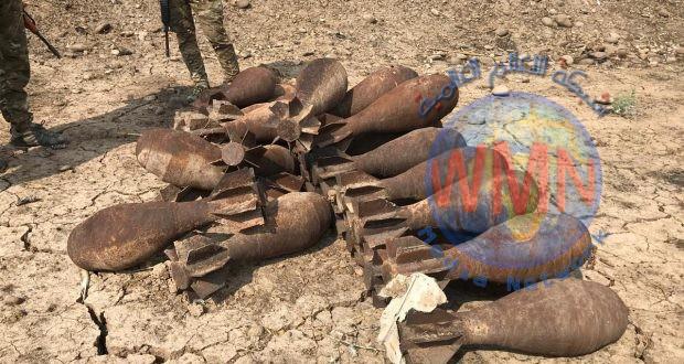 الحشد يعثر على كدس لقنابر الهاون والعبوات الناسفة في نينوى