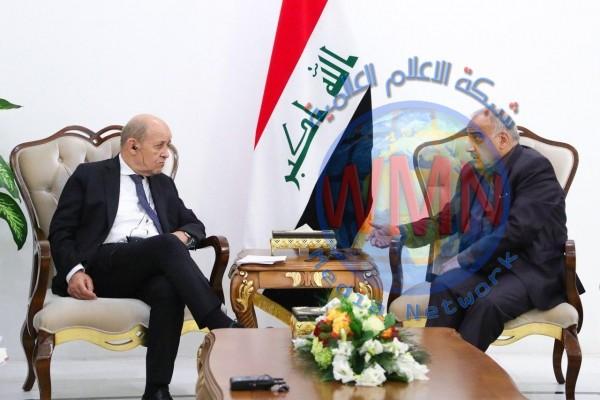 عادل عبد المهدي يستقبل وزير الخارجية الفرنسي