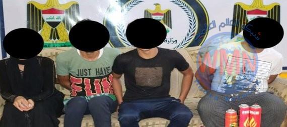 القبض على 18 متهماً بينهم امرأة في البصرة