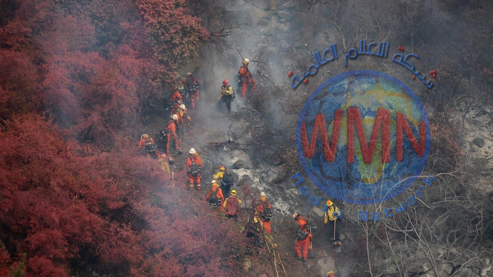 نحو 600 رجل إطفاء يكافحون حريقا في كاليفورنيا