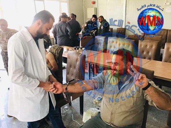حملات للتبرع بالدم.. أللوية الحشد الشعبي تتضامن مع المتظاهرين
