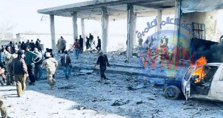 قتلى وجرحى بانفجار سيارة مفخخة في مدينة تل أبيض السورية