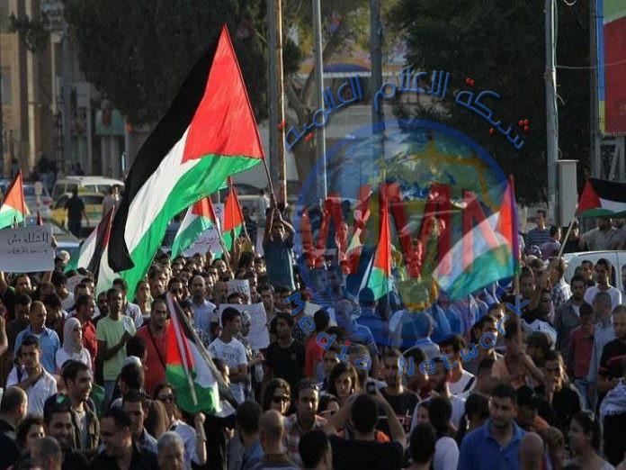 الاحتلال الصهيوني يقمع مظاهرة مؤيدة لغزة في القدس