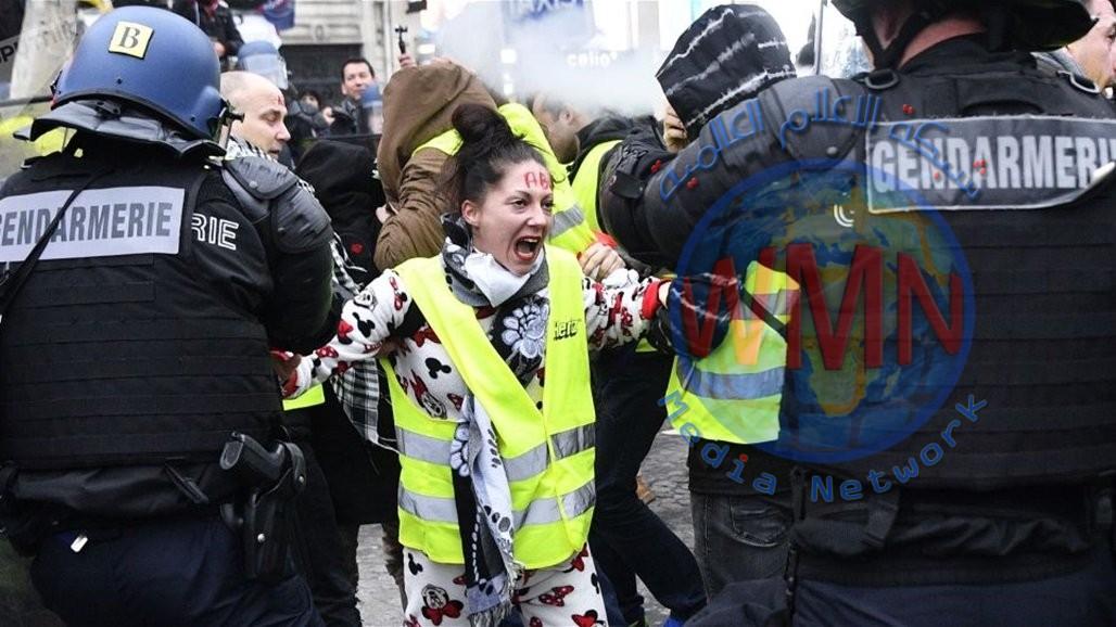"""الشرطة الفرنسية تعلن توقيف 61 شخصاً ضمن احتجاجات """"السترات الصفراء"""""""