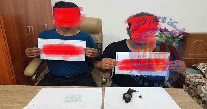 القبض على 2 بحوزتهما مخدرات في ديالى