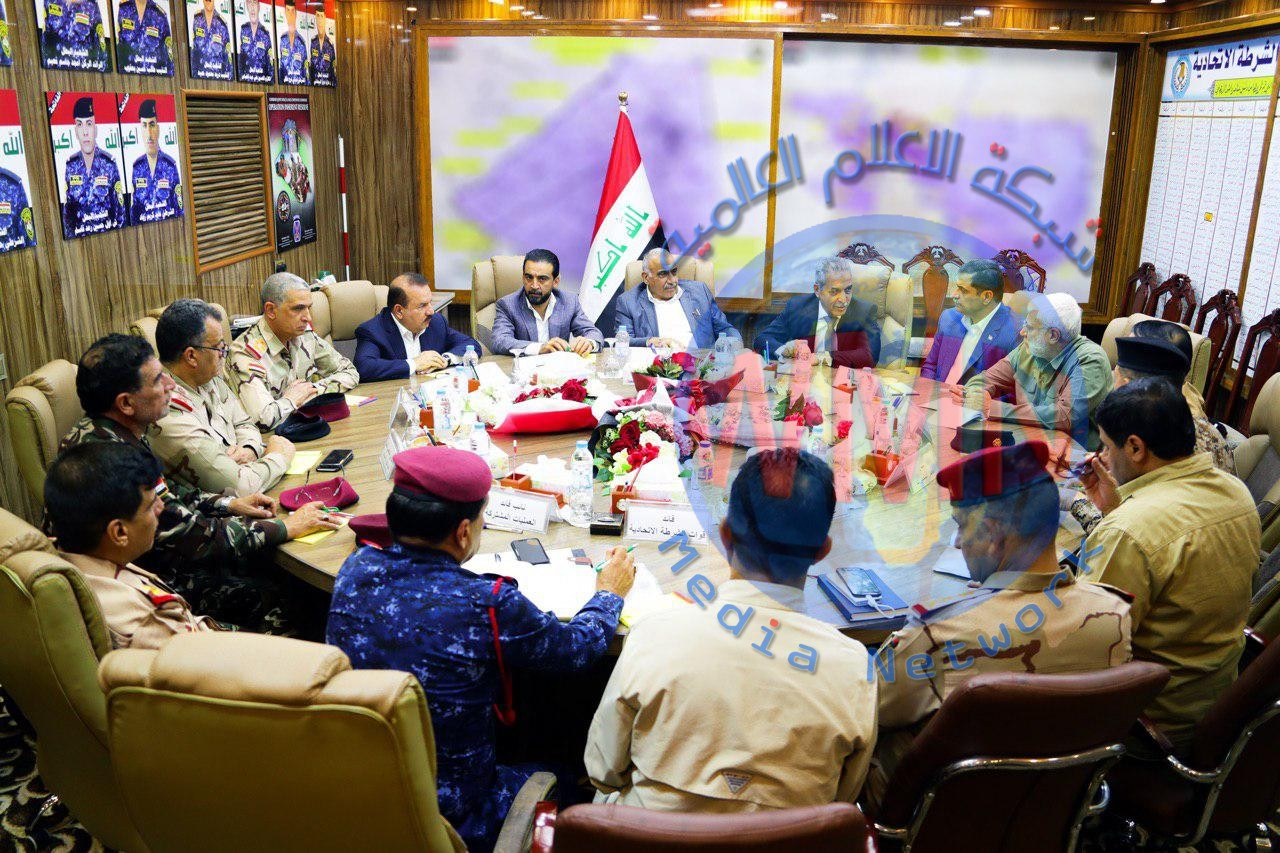 رئيس مجلس الوزراء السيد عادل عبد المهدي يعقد اجتماعا بحضور رئيسي مجلس القضاء الأعلى ومجلس النواب والقادة الأمنيين