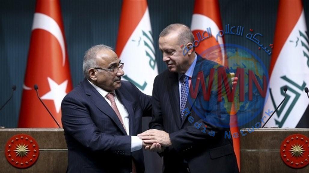 أردوغان لعبد المهدي: ندعم جهود الحكومة العراقية بالاستجابة لمطالب المتظاهرين