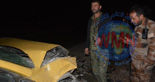 اللواء الرابع بالحشد يسعف مواطنين تعرضوا لحادث سير جنوب بحيرة حمرين