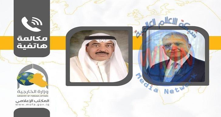 وزير الخارجيّة العراقي يهنئ رئيس مجلس الوزراء الكويتيّ الجديد