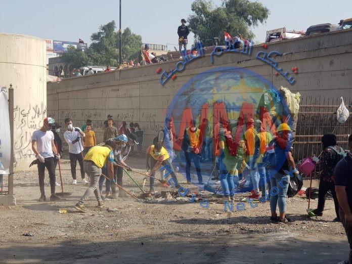 امانة بغداد تستنفر ملاكاتها في ساحات التظاهر