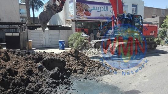 امانة بغداد: المباشرة باصلاح تخسف ضمن احد الخطوط الرئيسية جنوب العاصمة