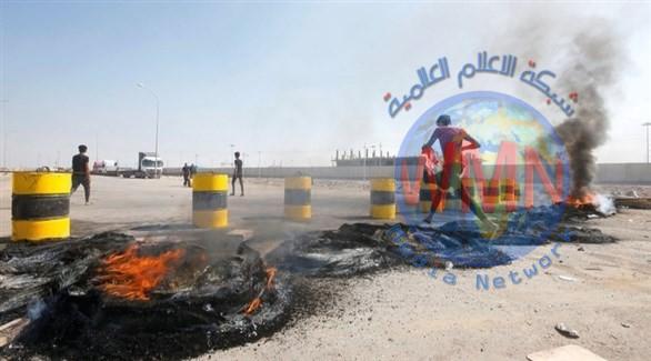 إستمرار إغلاق ميناء أم قصر وقطع طرق مؤدية لحقول نفطية