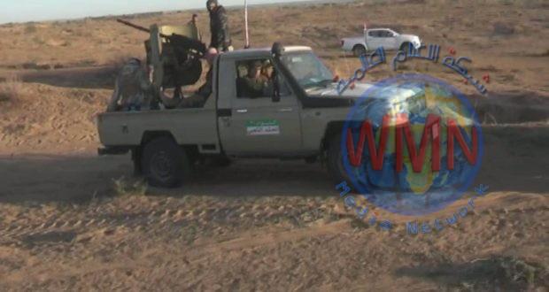 قوة من اللواء 21 في الحشد تنفذ عملية أمنية لملاحقة فلول داعش في جزيرة العيث في صلاح الدين