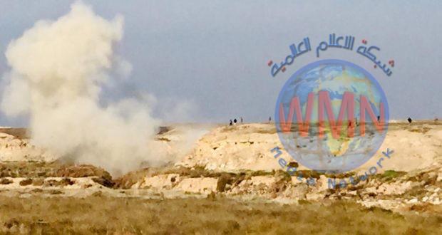 الحشد الشعبي يفجر انفاقا لداعش في وادي الثرثار جنوب الموصل