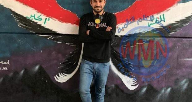 استشهاد المصور في مديرية إعلام الحشد الشعبي أحمد مهنا اثناء مشاركته بالتظاهرات